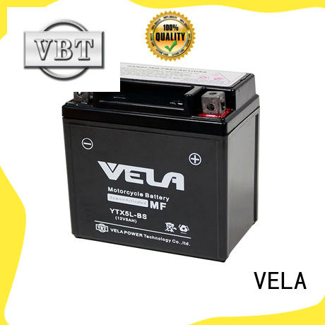 VELA use conveniently sealed maintenance free battery great for motorcycle industry