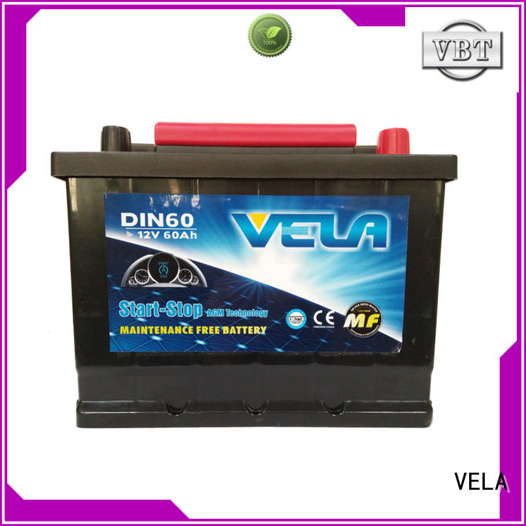 VELA start stop car battery satisfying for car industry