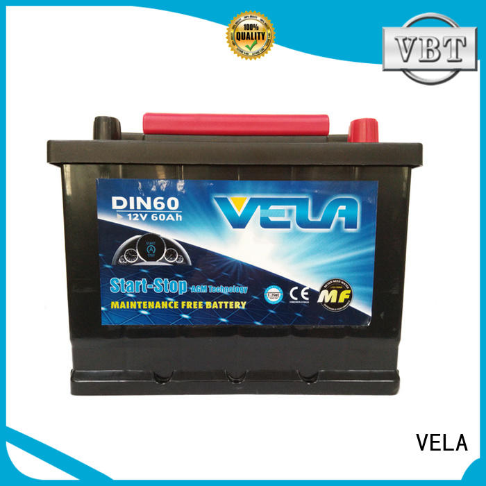 VELA start stop car battery widely applied for automobile