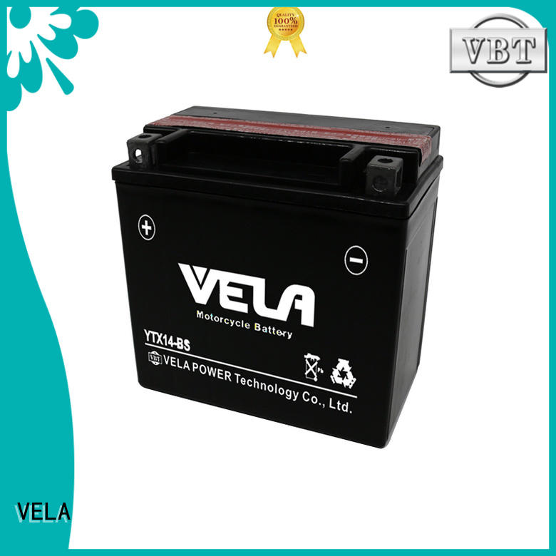 VELA dry cell motorcycle battery optimal for motorcycle industry