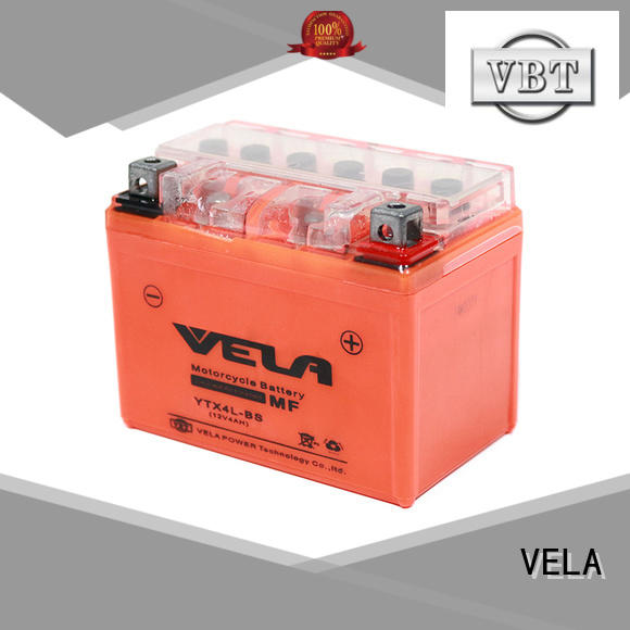VELA gel motorcycle battery popular for motorcycle industry