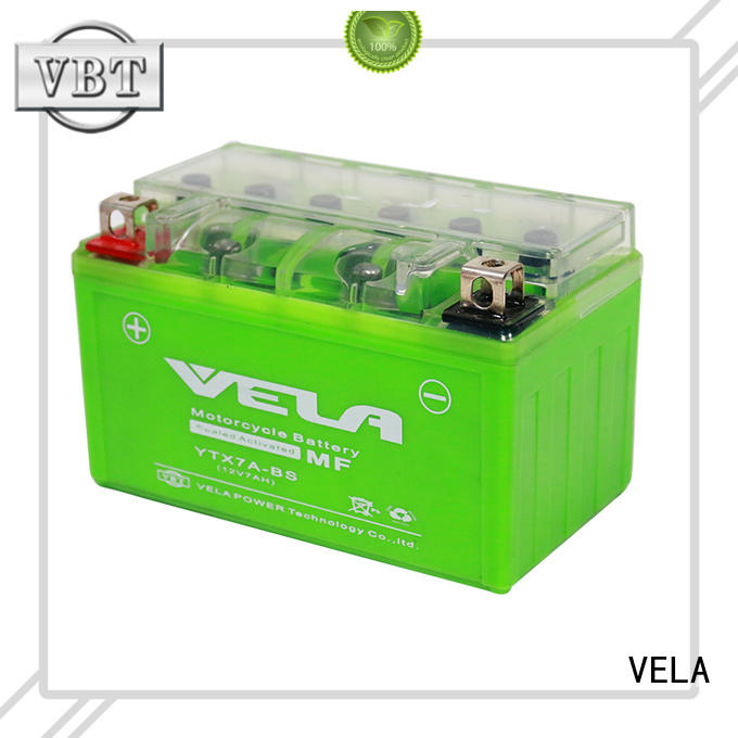 VELA high performance gel battery ideal for motorcycle industry