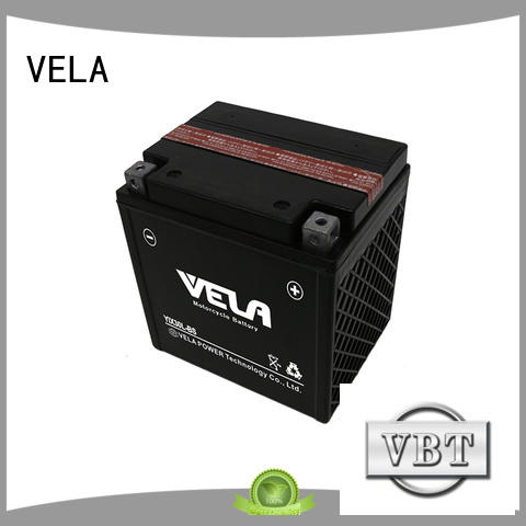 VELA 12v 6ah motorcycle battery widely used for motorcyles