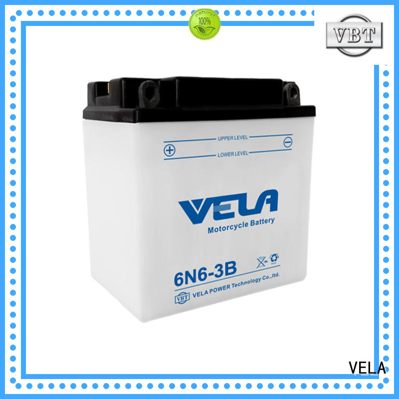 VELA durable lead acid battery best for motorcyles