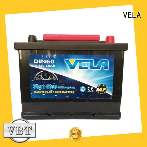 VELA durable start-stop battery satisfying for car
