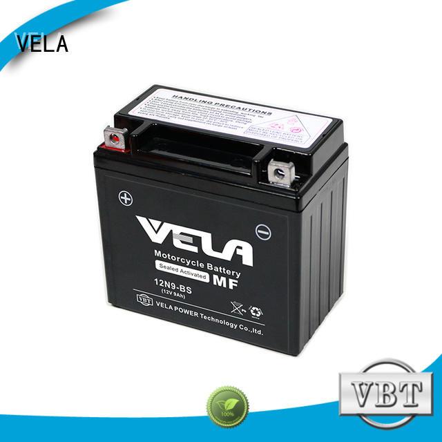 VELA sealed maintenance free battery great for motorbikes