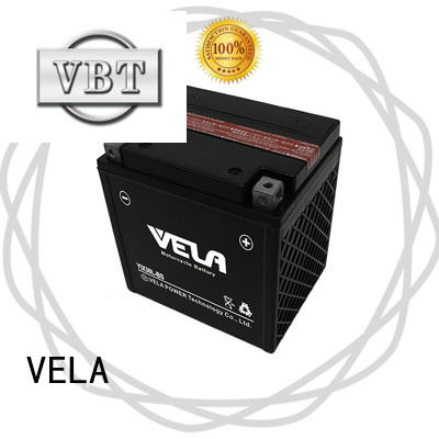 VELA reliable dry charged battery widely applied for motorbikes