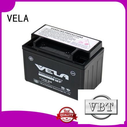 VELA maintenance free wet battery excellent for motorbikes