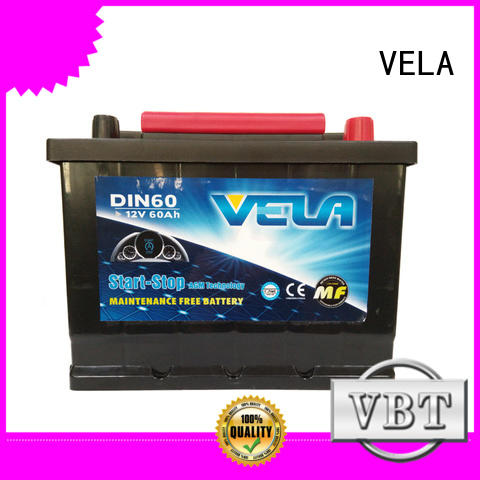 VELA advanced technology agm car battery satisfying for vehicle