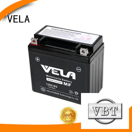 VELA sealed motorcycle battery best for motorcycle industry