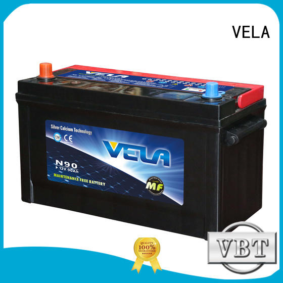 VELA high performance sealed car battery maintenance needed for car industry