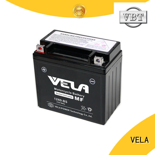 VELA good quality wet charged battery best for autocycle