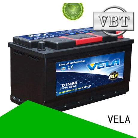 VELA durable car maintenance free battery widely employed for car industry