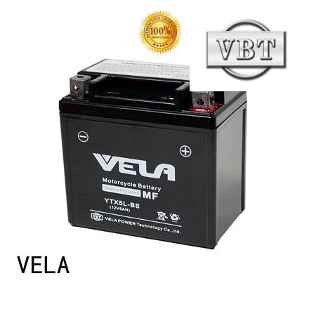 VELA wet charged battery great for motorcycle industry