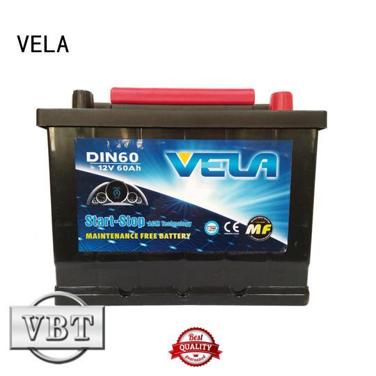 VELA durable start stop car battery satisfying for automobile