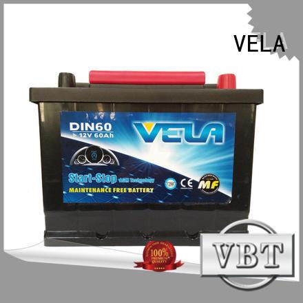 VELA start stop car battery widely applied for car