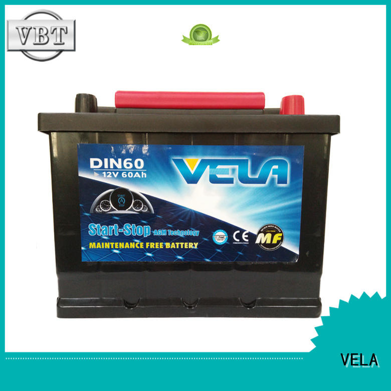 VELA start stop car battery widely used for vehicle