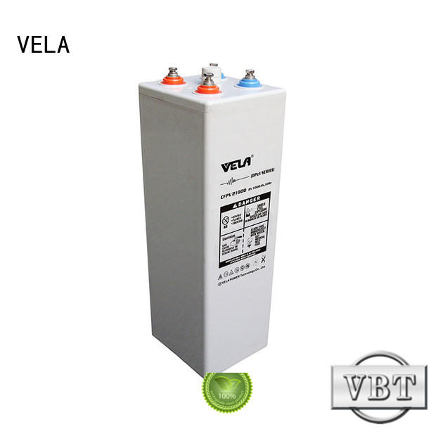 VELA professional maintenance free battery satisfying for power plant