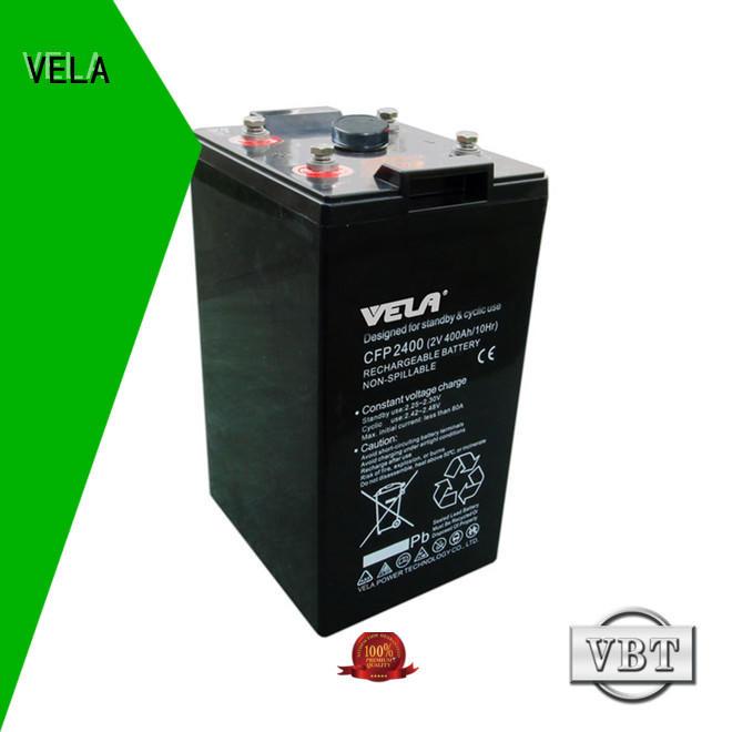 VELA maintenance free battery best for solar system
