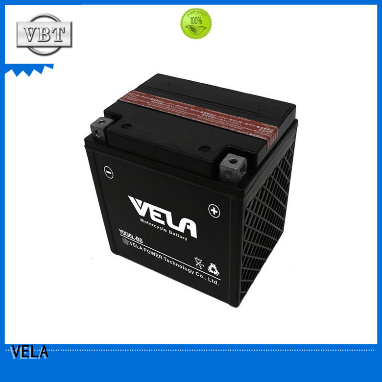 VELA convenient dry charged battery great for motorcyles