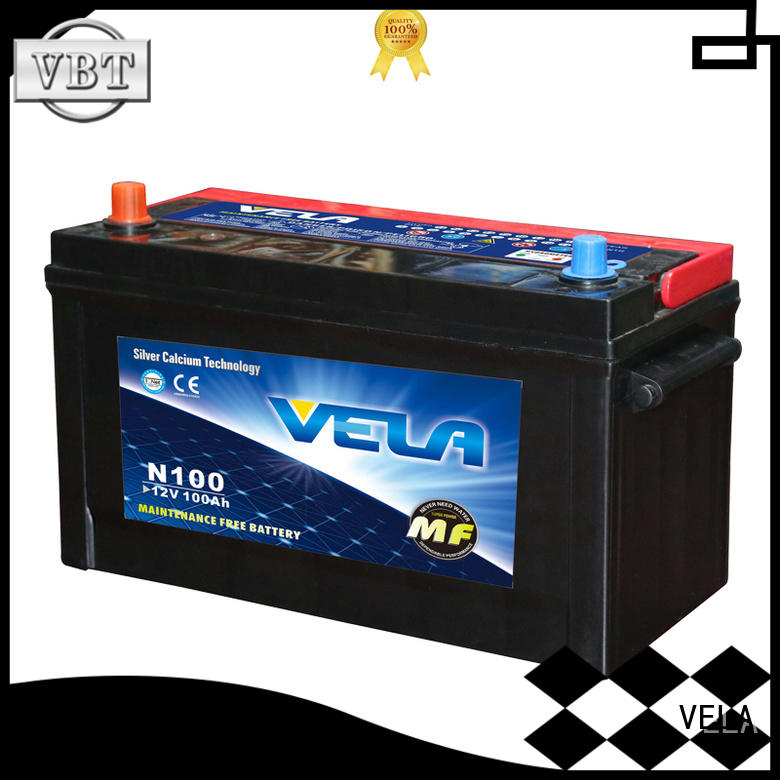 VELA best auto battery widely employed for car industry
