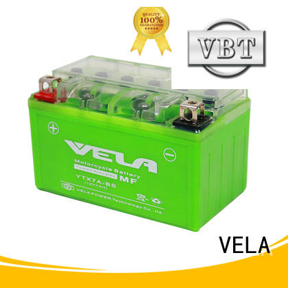 VELA durable high performance motorcycle battery popular for motorbikes
