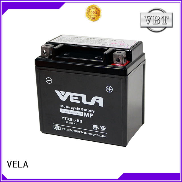 VELA use conveniently wet cell battery optimal for motorbikes