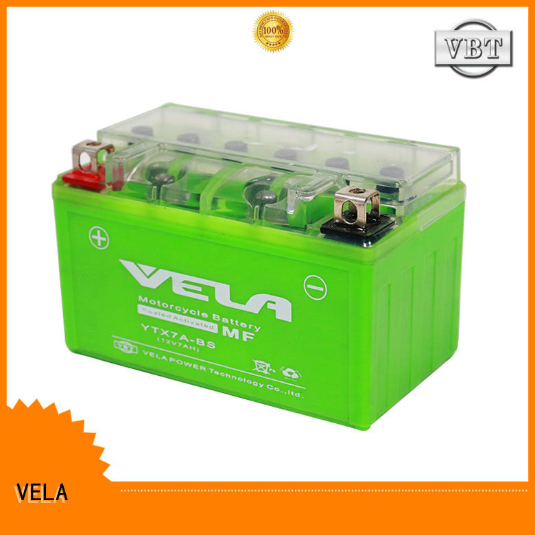 VELA long life time motorcycle batteries online perfect for motorcycle industry