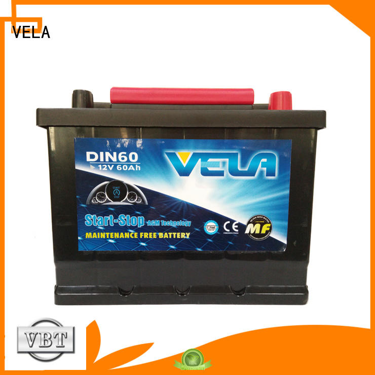 VELA start-stop battery widely used for automobile