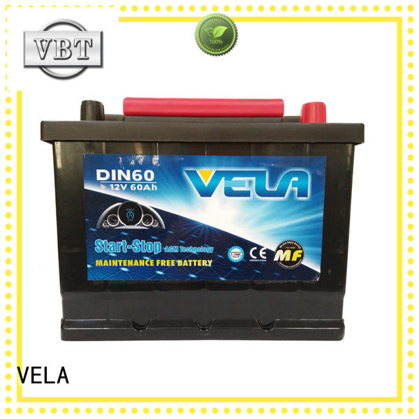 VELA durable start stop car battery widely used for vehicle
