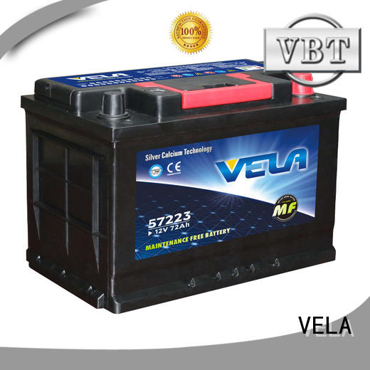 VELA reliable best auto battery widely employed for car