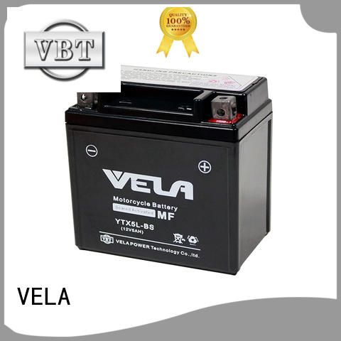 VELA wet cell battery best for autocycle
