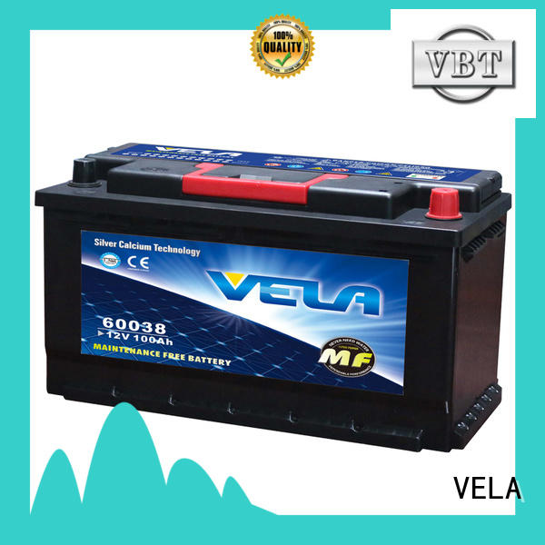 VELA car battery types and sizes widely employed for automobile