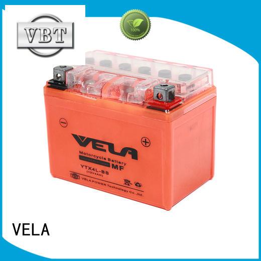 VELA gel cell battery popular for motorcycle industry