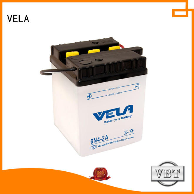 VELA professional dry charged battery widely employed for motorcycle industry