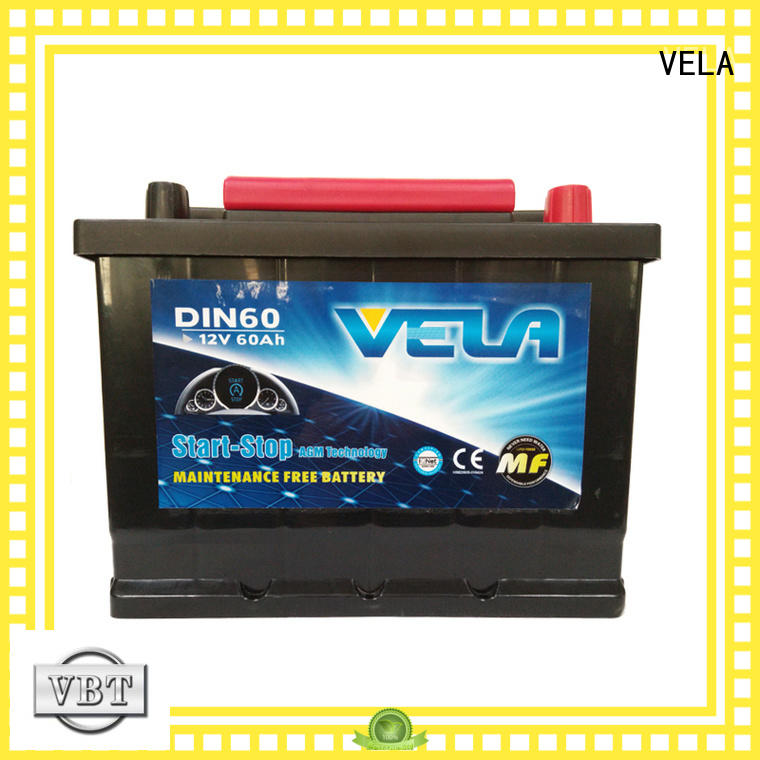 VELA reliable agm start stop battery automobile