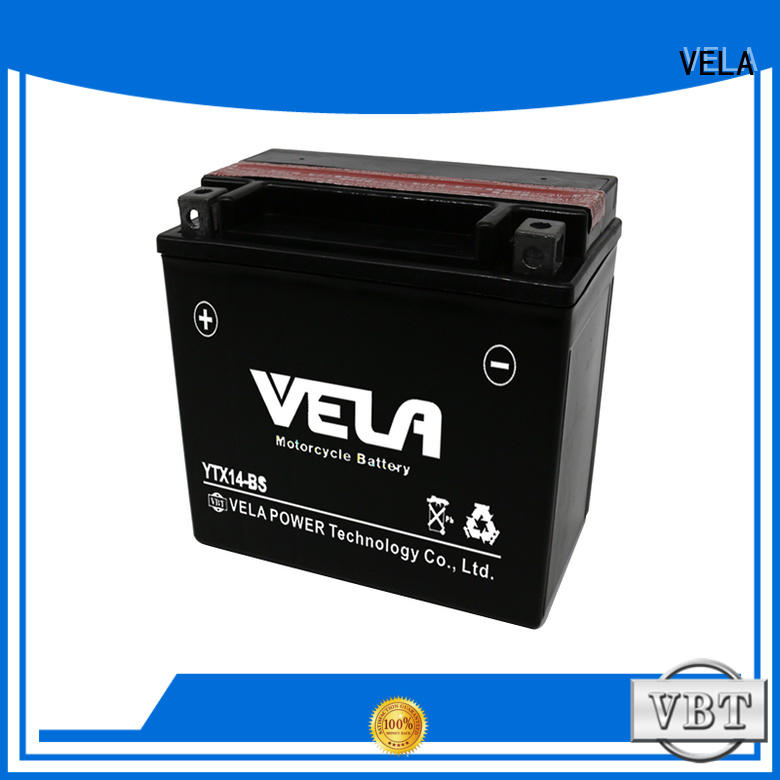 VELA best motorcycle battery brand widely applied for motorbikes