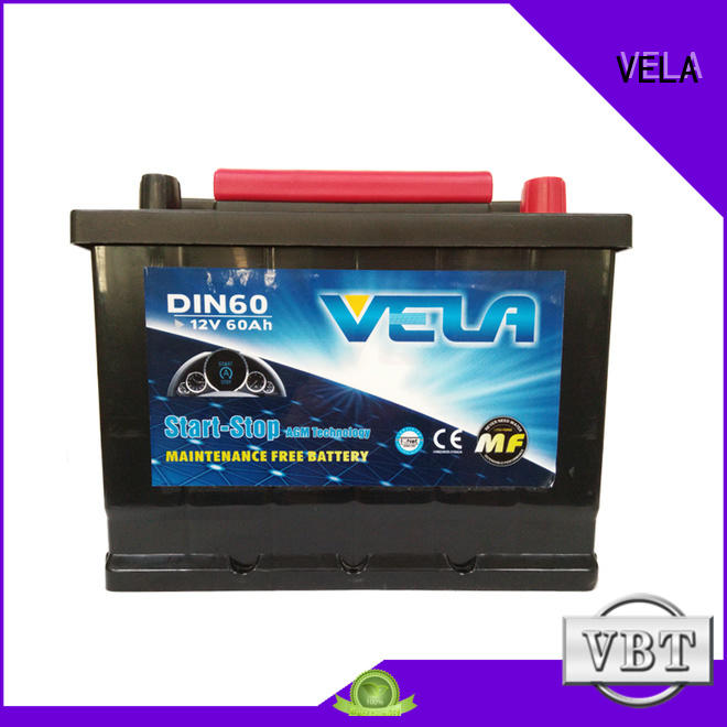 VELA advanced technology start-stop battery widely used for vehicle
