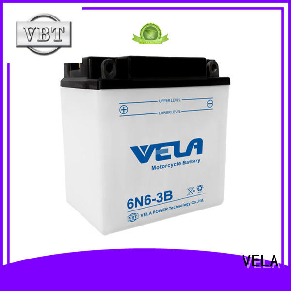 VELA reliable conventional battery widely employed for motorbikes