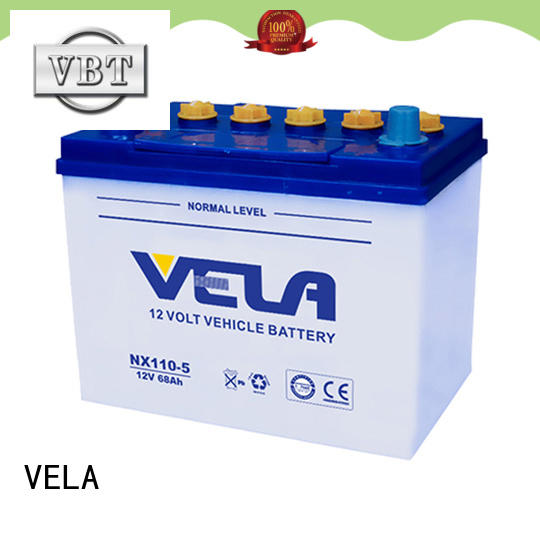 VELA long storage time dry cell car battery perfect for car