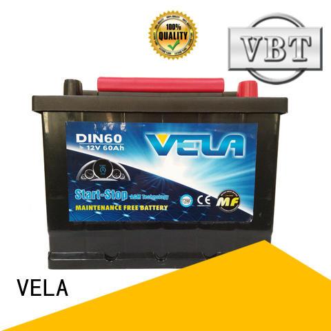 VELA durable start stop car battery satisfying for car