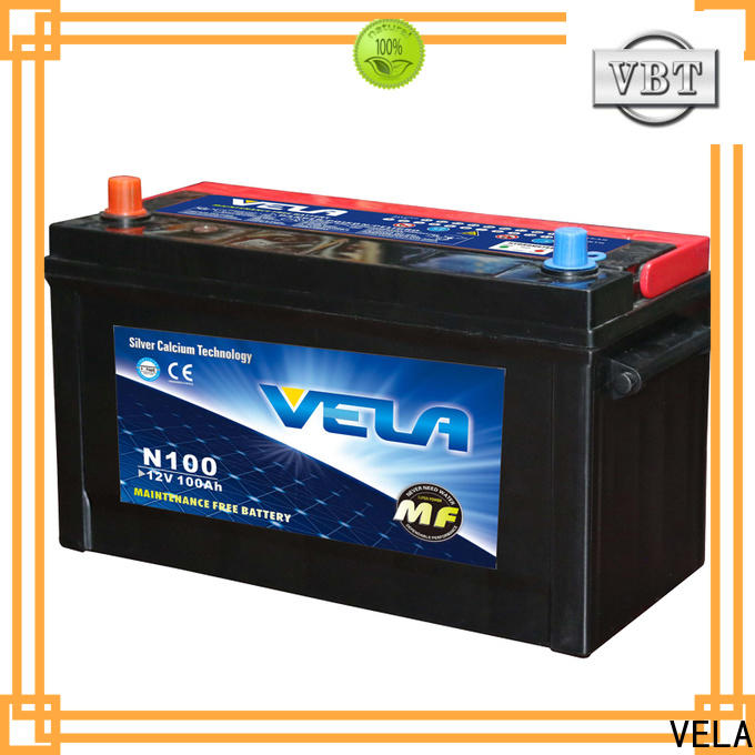 VELA high grade rechargeable car battery needed for car industry