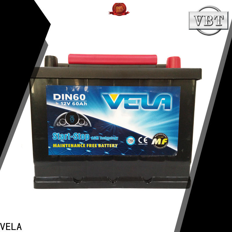 VELA professional best car batteries satisfying for car industry