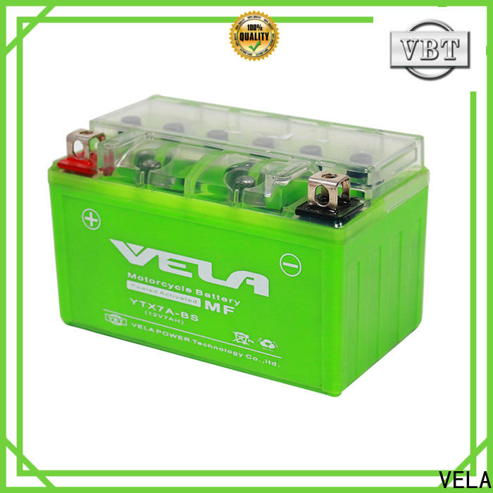 VELA small 12 volt motorcycle battery popular for motorcycle industry