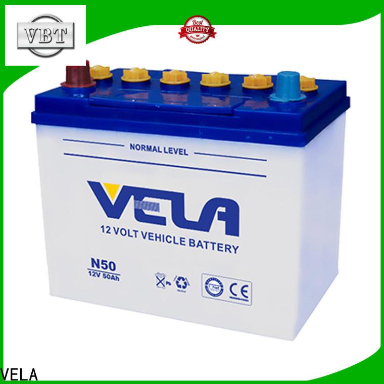 VELA good quality car dry cell battery ideal for car