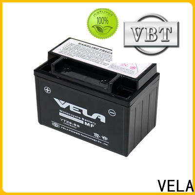 VELA maintenance free wet charged battery best for motorcycle industry