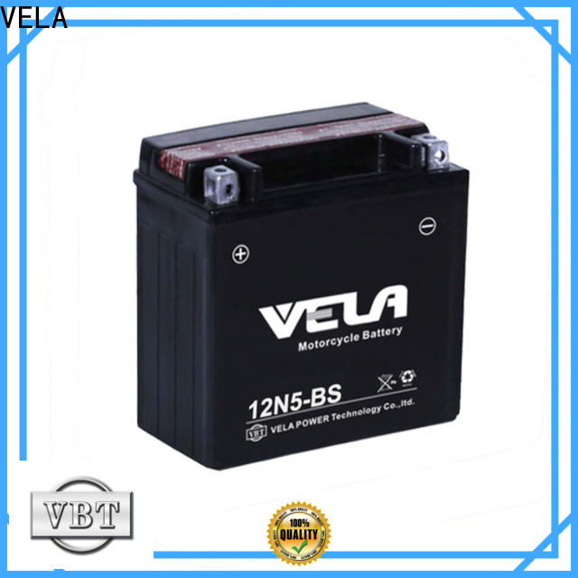 VELA motorcycle maintenance free battery widely applied for motorcycle industry
