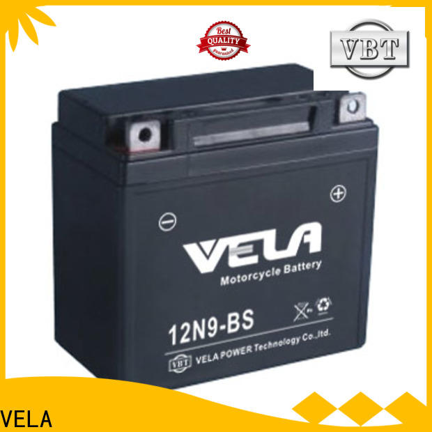 VELA maintenance free wet cell battery great for motorcycle industry