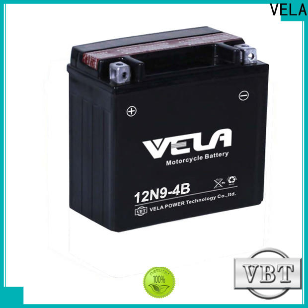 VELA high performance motorcycle battery types satisfying for motorcycle industry