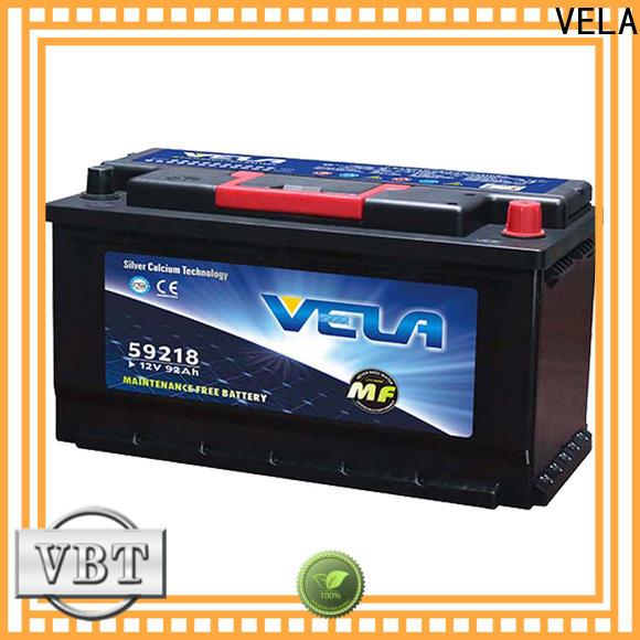 VELA car battery sizes widely employed for car